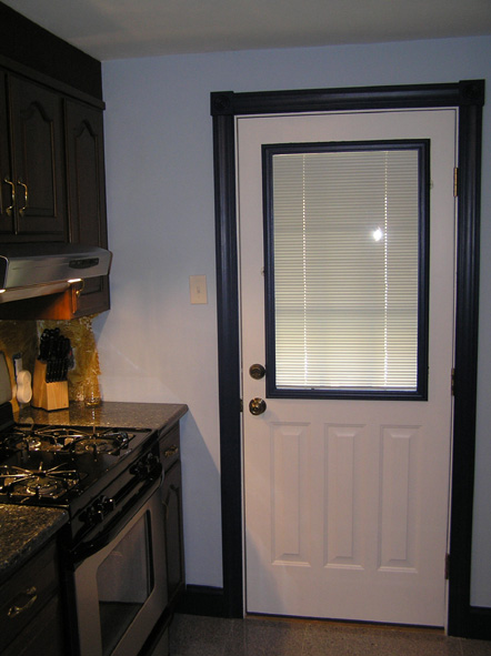 The new kitchen door
